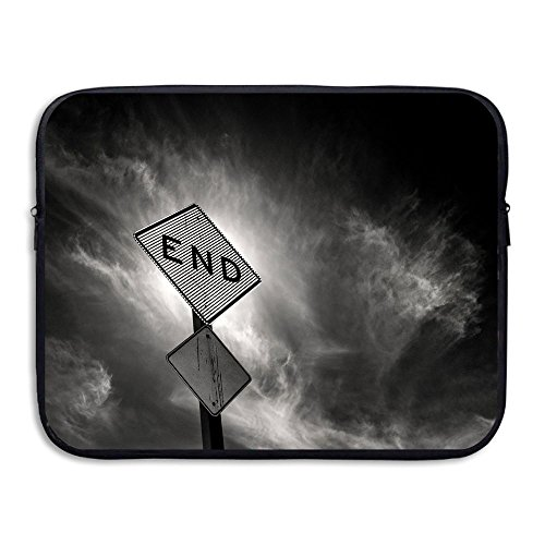 Fonsisi End Road Sign Art Laptop Storage Bag - Portable Waterproof Laptop Case Briefcase Sleeve Bags Cover -