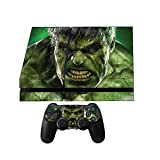 Sony PS4 Skin + 2 Ps4 Controller skins The Hulk