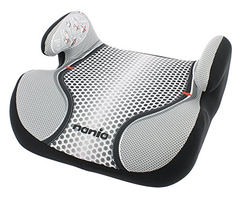 Osann Autositzerhöhung Booster, (15-36 kg), ECE Gruppe 2/3, von ca. 3 bis 12 Jahre, mit integrierter Gurtführung, Pop Black schwarz