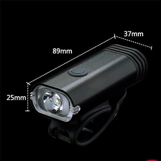 Luces de bicicleta Bicicletas lámpara de faro de carga USB noche ...
