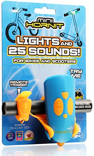 Hornit MINI HORNIT BUOR Fun Horn and light gift for kids bike & scooters, Blue and Orange