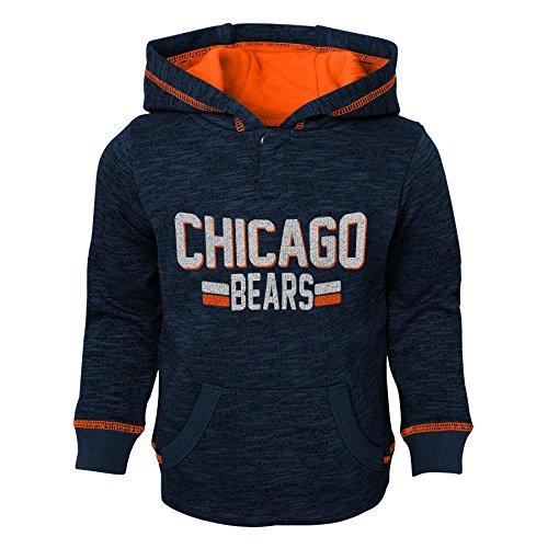 NFL Chicago Bears Toddler Tiny Linemen Slub Fleece Hoodie, Deep Obsidian, 2T