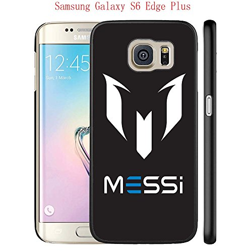 Price comparison product image Samsung Galaxy S6 Edge Plus Case, FC Barcelona Lionel Messi 33 Drop Protection Never Fade Anti Slip Scratchproof Black Hard Plastic Case