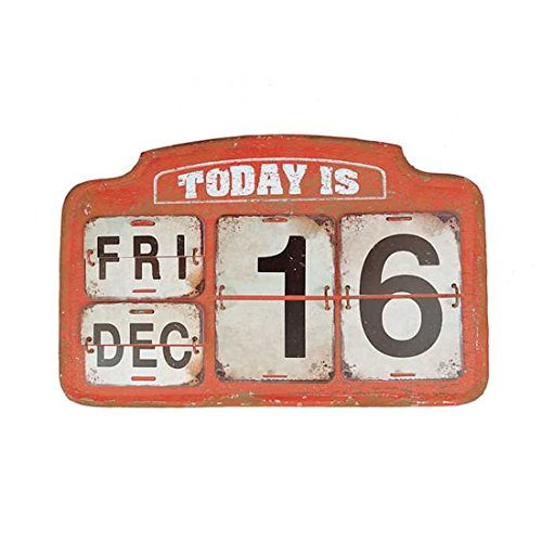 Turn of the Century Perpetual Calendar Metal Wall Hanging-Reproduction Antique Railroad Sign On Easel - 16-3/4-in L x 10-in H (Vintage Signs Railroad)