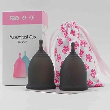 2 pcs Copa Menstrual 100% silicona médico Cómoda y Higiénica ...