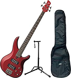 Yamaha TRBX304 CAR TRBX-304 Candy Apple Red 4 String Bass Guitar w/ Gig Bag and Stand from Yamaha