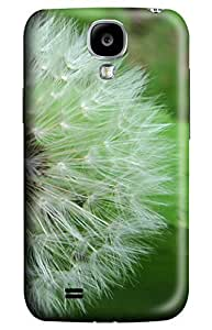 Online Designs Dandelion green and white PC Hard new case for galaxy s 4