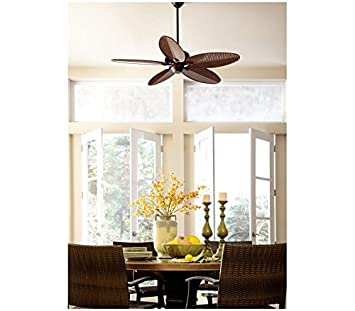 Monte Carlo 5CU52RB Cruise Tropical 52 Outdoor Ceiling Fan, 5 ABS Palm Leaf Blades, Roman Bronze