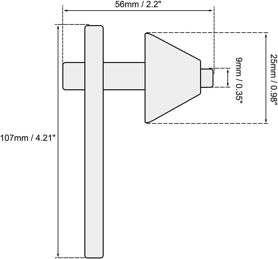 11 Z/ähne f/ür 3-16mm Bohrfutter Silber sourcing map Futterschl/üssel Hebel 8mm Vorbohrung Dmr