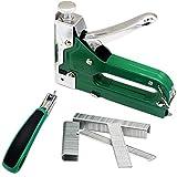 3-in-1 Nail Staple Gun Kit Puller Manual Carbon Steel Heavy Duty Nail for Wood Door Upholstery Framing 900 pcs of Staples