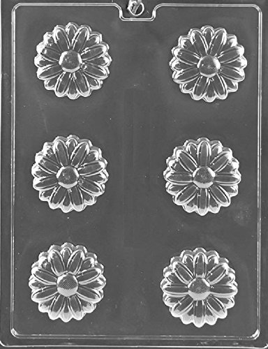 Grandmama's Goodies F121 Daisy Flower Cookie Chocolate Candy Soap Mold with Exclusive Molding Instructions (Daisy Chocolate Molds)