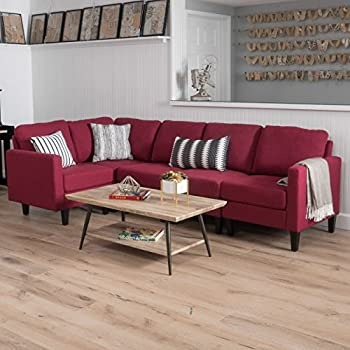 Excellent Amazon Com Nhi Express Landon Reversible Sectional Sofa Ibusinesslaw Wood Chair Design Ideas Ibusinesslaworg