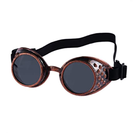 GJYANJING Gafas De Sol Gafas De Sol Retro Steampunk Mujeres Hombres Gafas De Soldar Steam Punk