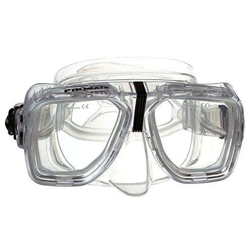- Promate Optical Corrective Scuba Snorkeling Mask, Clear, Nearsight-4.5