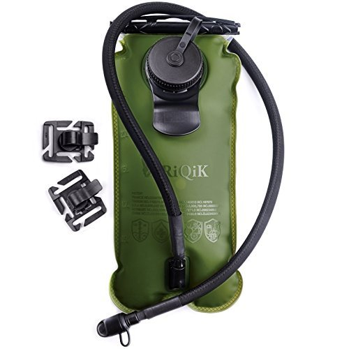77a13a8201bb RIQIK Military Hydration Bladder with Clips to Hold Drinking Tube - Premium  Quality LeakProof Water Storage Tank - Replacement Reservoir for Backpacks-  3 L ...