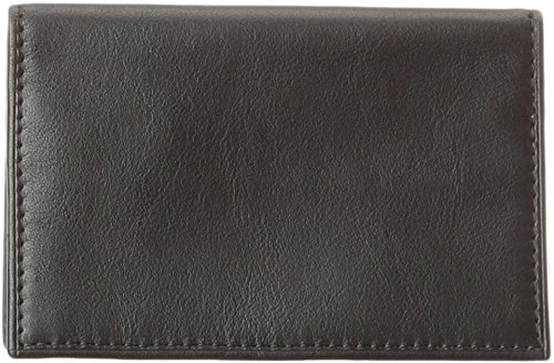 Bosca Nappa Vitello Calling Card Case Wallet,Black