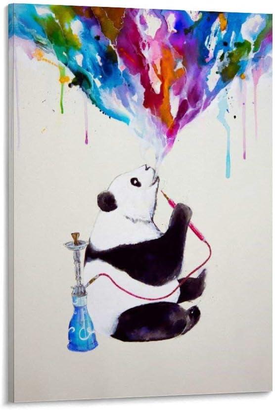 gaozhen Póster de Chai My Shisha Panda from … Lienzo decorativo para pared y póster moderno de 20 x 30 cm