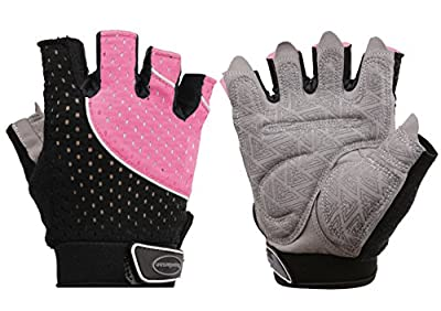 Tourdarson Weight Lifting Gym Gloves Microfiber & Anti-Slip Silica Gel Grip Padded Workout Gloves for Weightlifting, Cross Training, Gym, Fitness, Bodybuilding Men & Women
