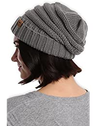 Slouchy Cable Knit Cuff Beanie by Tough Headwear -...