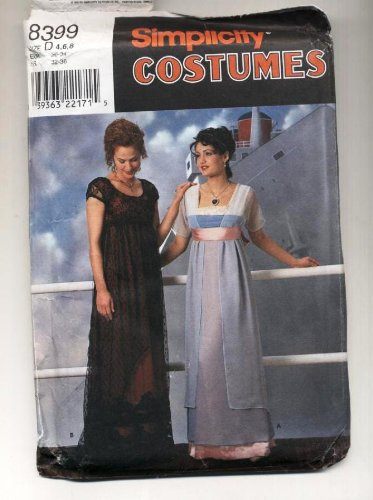 Simplicity 8399 - Rose Titanic Gown Costume Pattern - Size D (4, 6, 8)