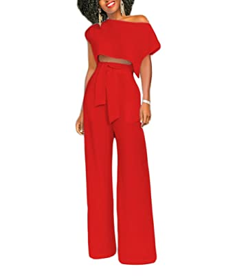 fabrication habile convient aux hommes/femmes vraie affaire Combinaisons Femme Soirée 2 Pieces Outfit Crop Top + Large ...