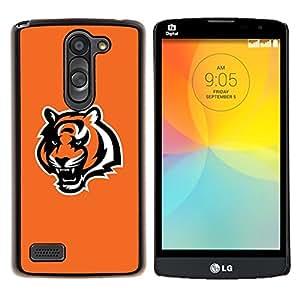 "Be-Star Único Patrón Plástico Duro Fundas Cover Cubre Hard Case Cover Para LG L Prime / L Prime Dual Chip D337 ( Anaranjada fresca Tigre Rugido"" )"