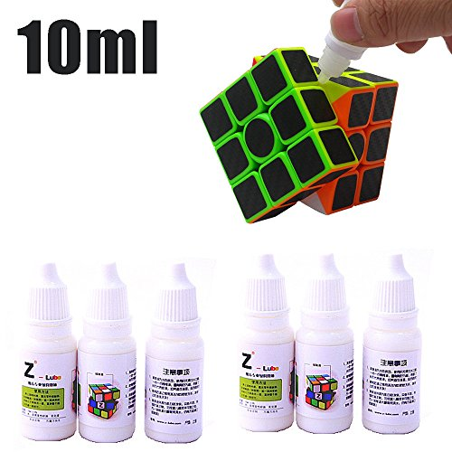 Weiyun Cube Oil Magic Accessories - Lubricating Speed Cube Oil Rubiks for Match Game Smoothly - Silicone Oil - 1PCS - 10ml