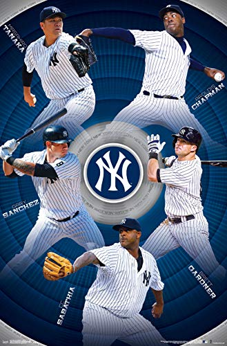York New Paper Yankees - Trends International New York Yankees - Team Wall Poster, 22.375