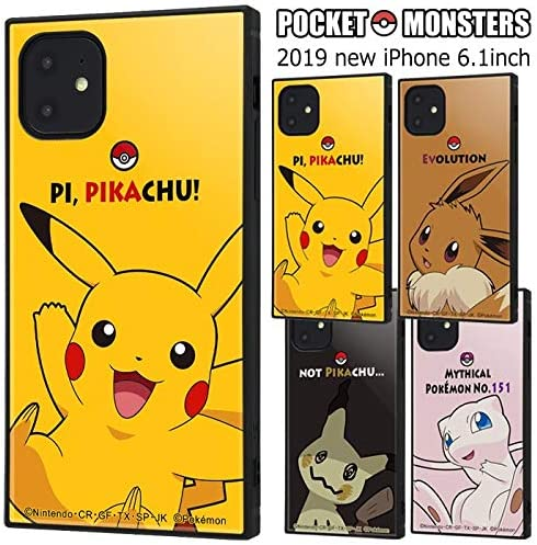 Color: Eevee] iPhone11 Pokemon Square impact case cover ...