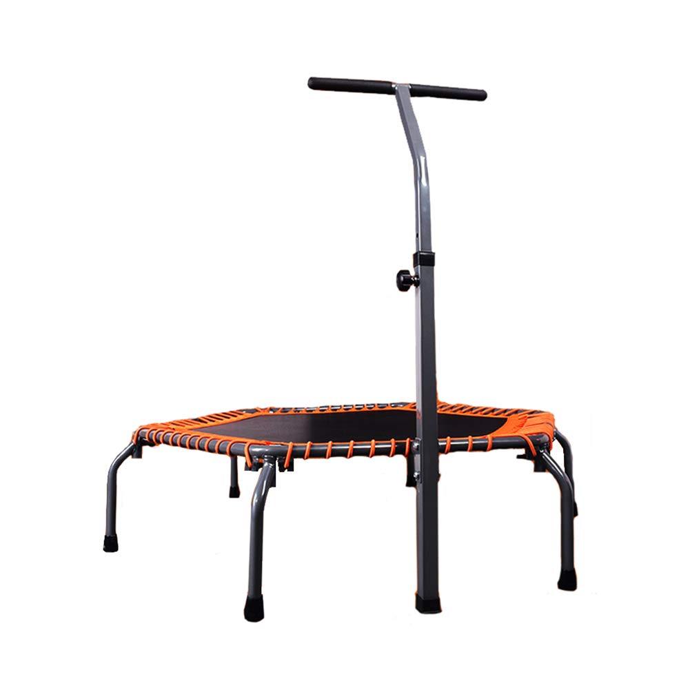 53-Zoll-Trampolin für Erwachsene mit verstellbarem Griff Fitness-Bar, für Kinder und Erwachsene Trampolin Trainer Falten