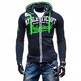 Meolin Fashion Fleece Hoody Zip Sweatshirts Fox Racing Boys ,Navy blue,L