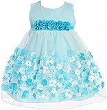 Baby & Infant Flower Girl Dress Tulle Overlay Satin Dress Aqua L KD333 offers