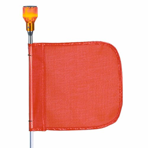 (Flagstaff FS6 Safety Flag with Light, Threaded Hex Base, 12