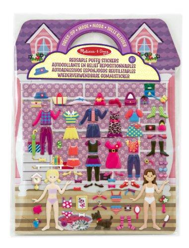 UPC 000772121958, Melissa & Doug - 12195 - Reusable Puffy Stickers - Dress-up