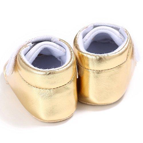 ESTAMICO , Baby Mädchen Lauflernschuhe Gold