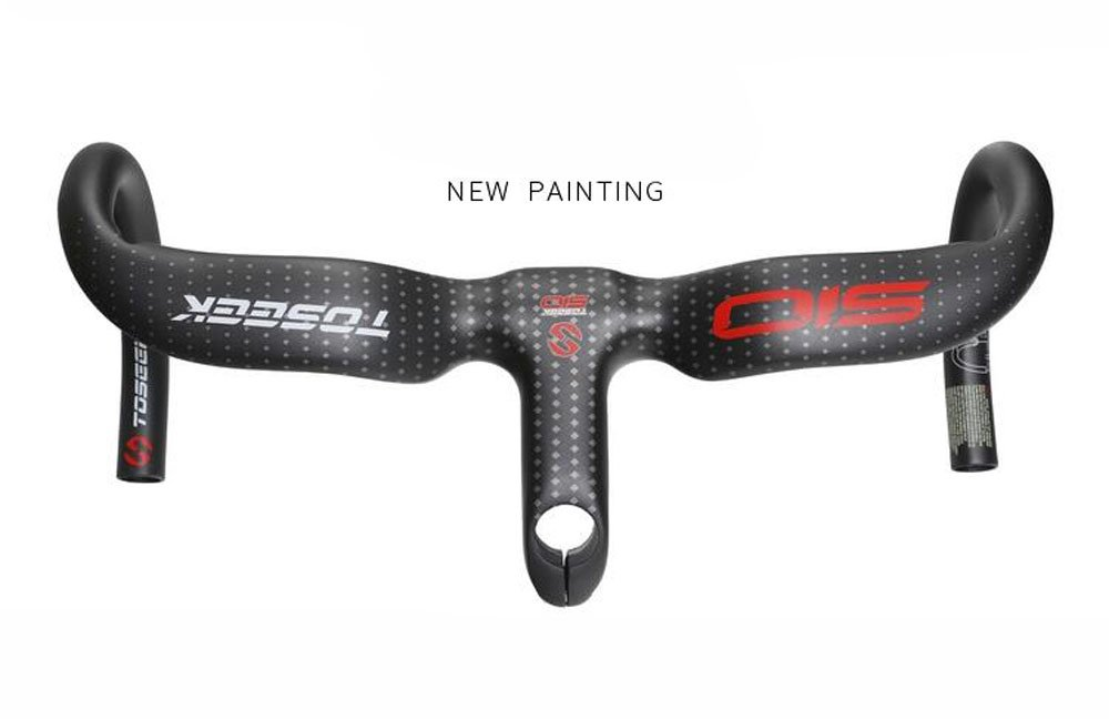 TS-H06 TOSEEK正規品 ドロップハンドル NEWデザイン エアロタイプ ロードバイク用 一体式ハンドルバー B07CZVGNSB 110mm|400.0 ミリメートル 110mm