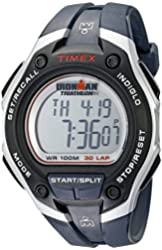 Timex Men's T5K416 Ironman Traditional 30-Lap Watch with Dark Blue Strap