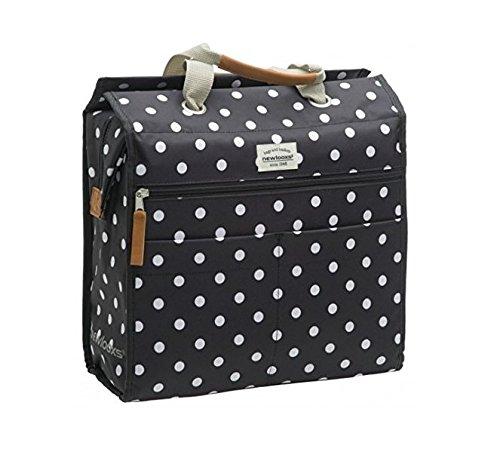 New Looxs Lilly polka black Einkaufstasch Fahrradtasche Shoppingtasche