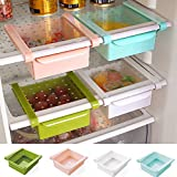 VelKro Deluxe Fridge Storage Sliding Drawer Freezer Storage Shelf Multipurpose Refrigerator Organizer Space Saver(Assorted Colour, 1 Piece)