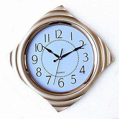 (Ysayc Wall Clock Modern Simple Mute Quartz Clock Fashion Creative Living Room Bedroom Diamond Bell Clock ,)