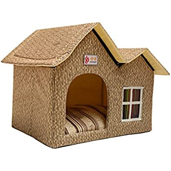 Amazon Com Zppmc Luxury Double Roof Dog House Room Cat