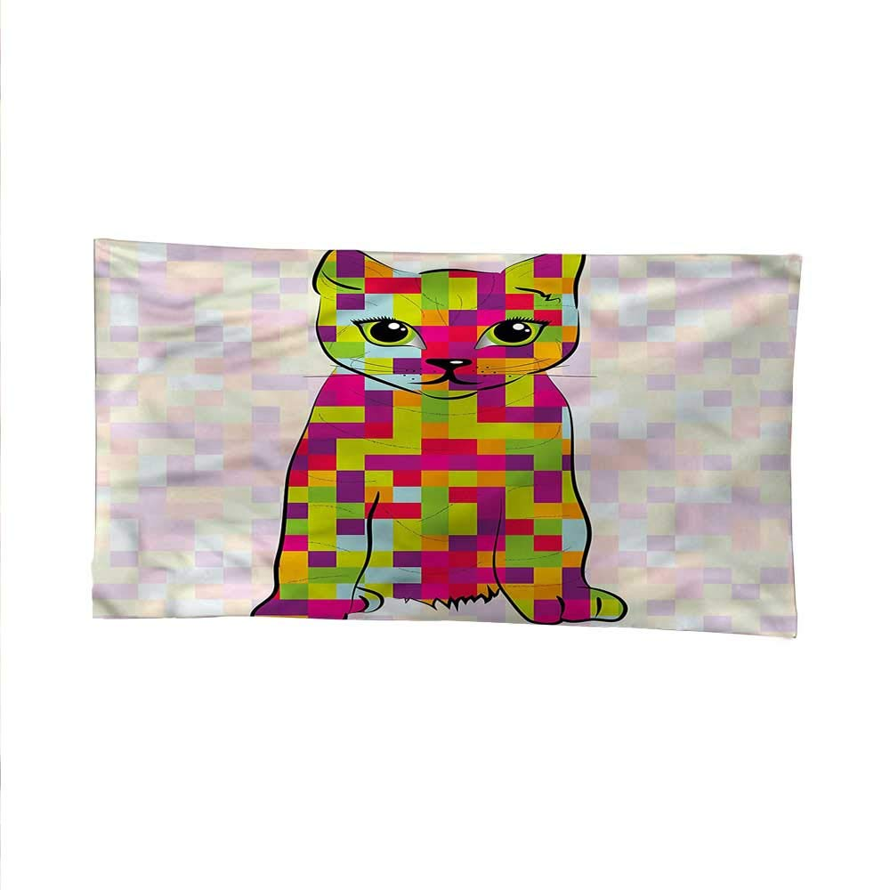 color11 60W x 51L Inch color11 60W x 51L Inch Moderntapestrywall tapestryCute Cat Digital colors 60W x 51L Inch