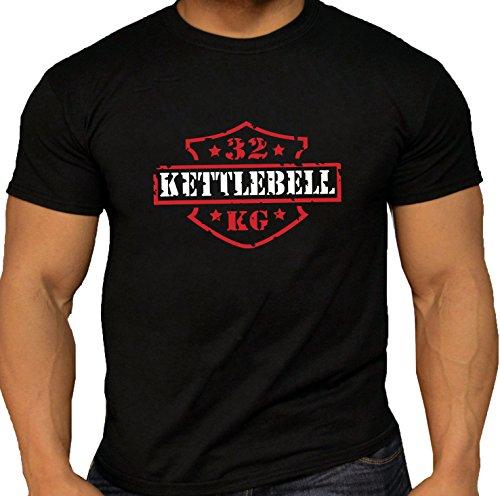 Kettlebell Girevik Sport Lifter Vintage 32kg Men's T-shirts.