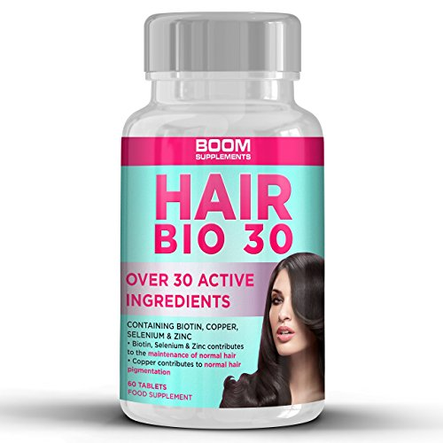 Hair Growth Hair Bio 30 Supplements Hair Growth Tablets,60 Tablets by Boom Supplements
