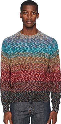 (Missoni Men's Ombre Crew Neck Sweater Burgundy 52)