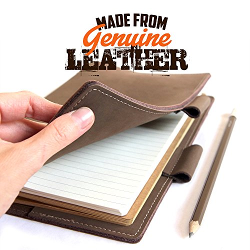 Life Book - Refillable Journal Diary - Genuine Leather Note Book - A5 Notebook and Additional Refill - Leather Journals for Men and Women - Ideal Diaries Notebooks and Sketch Books (Leather Journal Genuine)