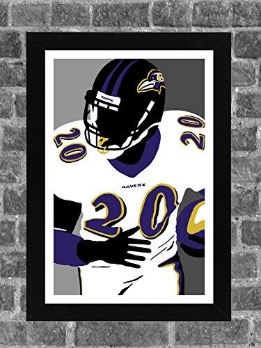 Baltimore Ravens Ed Reed Portrait Sports Print Art