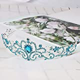 Didder Silver Tiaras and Crowns for Women, Blue