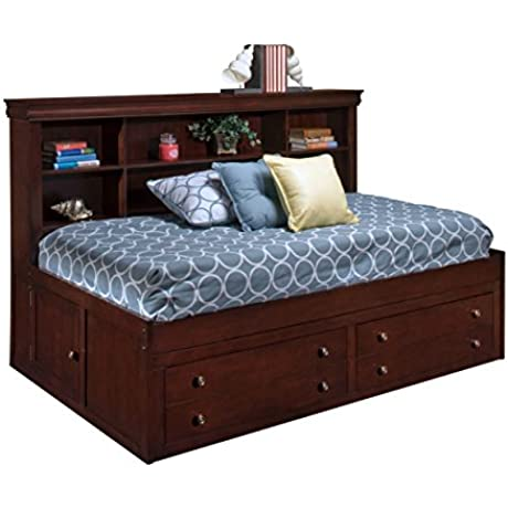 Valdivia Louie Phillipe Youth Twin Captains Lounge Bed In Cherry