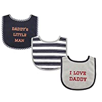 Luvable Friends 3 Piece Drooler Bibs with Fiber Filling for Boys, I love Dadd...